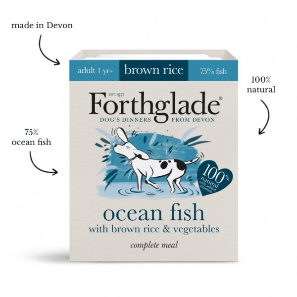 Forthglade Ocean Fish with Brown Rice & Vegetables (395g)