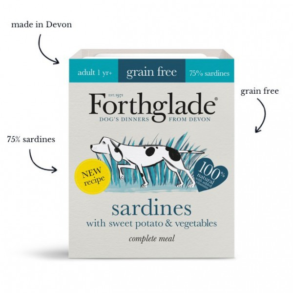 Forthglade Sardines with Sweet Potato & Vegetables (395g)